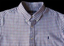 Men's RALPH LAUREN White Brown Blue Plaid Soft Shirt 2XLT 2LT 2XT TALL NWT NEW