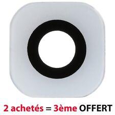 BLANC WHITE Lentille Vitre Cache Camera Appareil Photo Lens Samsung Galaxy S6