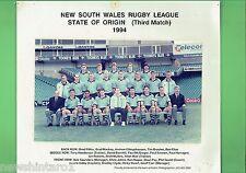 #T102. 1994 GAME 3 NSW ORIGIN TEAM  RUGBY LEAGUE  PHOTO