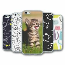 For iPhone 6 6S Silicone Case Cover Cats Collection 4