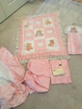 7 Piece Piece Crib Bedding Room Set Kids Line For Girl