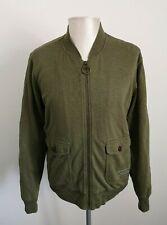 Mens Barbour Beacon Brand 100% Cotton Green Bomber Jacket VGC - Size Medium