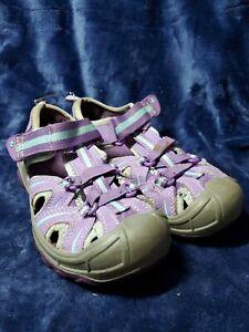 Merrell Hydro Hiker Sandals Girls Youth Size 1M Waterproof Shoes Purple/Aqua