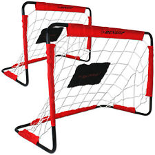 Dunlop 2 Fussballtore Fußballtor Torwand Fußball Tor Netz Kinder Heringe Set Neu