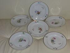 "Royal Copenhagen PRIMAVERA Dessert Plates - Set of 6 - 6 3/4"""