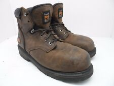 """Timberland PRO Men's Pitboss 6"""" Steel Toe Leather Work Boot Brown Size 13M"""