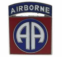 US Army 82nd Airborne Division Silver Tone 7/8 inch Hat Pin H14674 JD150