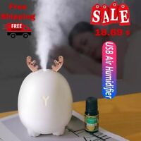 320ml Ultrasonic Air Humidifier Diffuser Usb Led Aroma Essential Oil Purifier