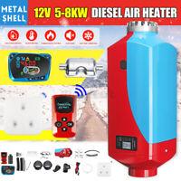 Metall 8KW 12V Diesel Luft Heizung LCD Fernbedienung Thermostat Leise Für Lkw
