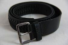BNWT Hugo Boss Slovac Black Cow Skin Leather Belt sz 40 100% Authentic