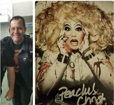 PEACHES CHRIST signed 8X10 rupaul drag queen race w/PROOF