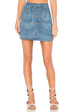 NWT Rag & Bone Jean Women's Mini Santa Cruz Capitol Denim Button Up Skirt Sz 26