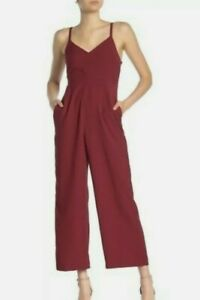 Madewell Size 14 Thistle Cami Jumpsuit Maroon Women's New