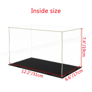 Large Acrylic Display Case Dustproof Box Perspex Clear Collectibles Model UK