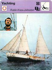 "FICHE CARD : Robin Knox-Johnston ""Suhaili"" ENGLAND GREAT BRITAIN YACHTING 70s"