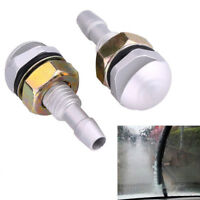 1 Pair Universal Aluminum Car Front Window Windshield Sprayer Washer Nozzle Jet