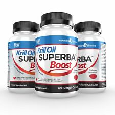 Krill Oil Superba Boost Strong 590mg 180 Red Softgel Capsules Evolution Slimming