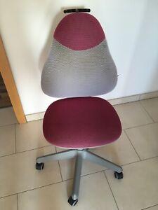 Paidi Schreibtischstuhl Grau / Pink -NUR SELBSTABHOLUNG-