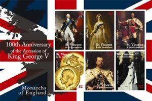 St. Vincent 2010 - SC# 3718 Accession of King George V - Sheet of 6 Stamps - MNH