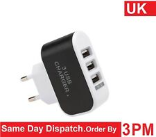 3 Port USB Multi Adapter Travel Wall AC 3 USB Charger EU Plug for Phones 3.1A