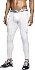 Nike Men's Hyperwarm Compression Lite Tight, White/Cool Grey, SM