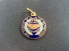 The League of the Helping Hand Childrens Encyclopaedia Enamel Medal Pendant RARE