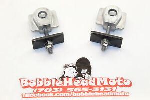18-21 Kawasaki Ninja 400 Oem Swingarm Chain Tensioner Adjustment Brackets A7