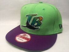 Tampa Bay Rays MLB New Era Light Green & Purple Hat 9FIFTY Snapback Cap
