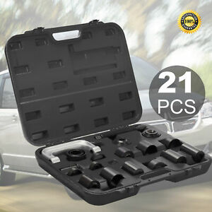 21 pcs Auto Repair Service Remover Ball Joint Press Tool Master Adapter Kit