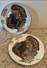 "Williams-Sonoma PLYMOUTH 'Turkey' 7"" Appetizer Canape Plates Set(s) of 2"