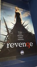 Revenge What Goes Around Comes 2012 ABC TV Original Promotional Poster 27X40 VG