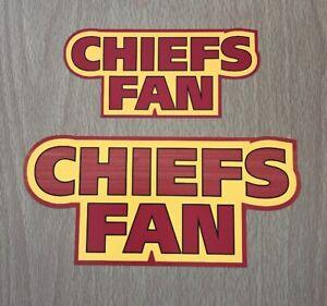 NFL Kansas City Chiefs Sticker Decal - AFC West Super Bowl Football Team Sports