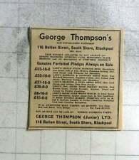 1951 George Thompson's Old Established Pawnshop Bolton Street Blackpool