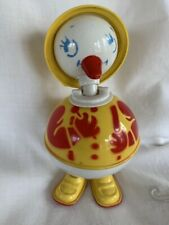 Vintage Plastic Easter Girl Chick White/Yellow/Red/Blue Bobblehead Rattle #69