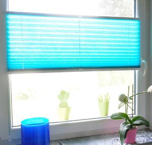 PLISSEE Jalousie Faltstore Klemmfix Fenster Faltrollo Sichtschutz m. Klemmträger