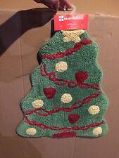 "Xmas Tree Shaped Bath Rug Christmas Decor 20x25"" Size By Home Essential New"