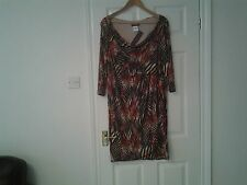 Ladies  'With Sleeves' size 20 animal print dress
