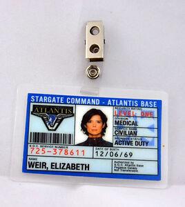 Stargate Command Atlantis ID Badge-Elizabeth Weir