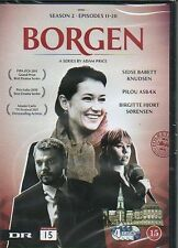 4 DVD TV-Serie aus Dänemark DÄNISCH: BORGEN, Staffel Season 2, ENGLISH SUBTITLES