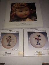 Goebel Miniature Collectors Plates - 1984 Little Fiddler 1985 Serenade Mj Hummel