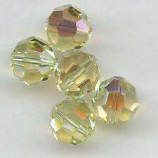 5000 10 JX*** 2 perles cristal Swarovski RONDES 10mm JONQUIL AB