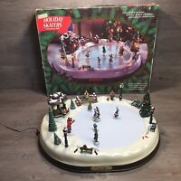 Mr Christmas Holiday Skaters Victorian Ice Skating Musical Scene 1995