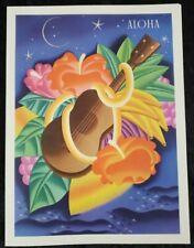ALOHA UKULELE Frank McIntosh MacIntosh Vintage NM MENU COVER Hawaii MATSON LINES
