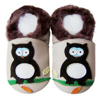 New Born Baby Shower Gift Soft Sole Leather Baby Shoes Infant GeckoBlue 18-24M