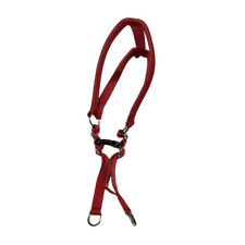 Dog Red Adjustable and Padded Nylon Harness Soft Padded Daily Use