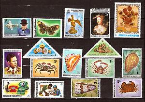 Maldives New: Crustacean, Shells, Characters, Butterflies, Various F275