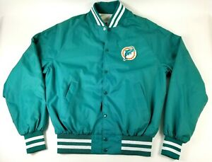 Vintage Miami Dolphins Button Up Light Weight Jacket Size L Active Generation