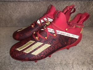 adidas ADIZERO NEW REIGN CLEATS Red Gold Men's size 8 New Soccer Football NWT