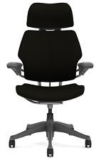 Humanscale Freedom F211 Black Wave Fabric Titanium Frame Office Desk Chair
