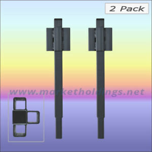 """2 x 12"""" Market Stall Extensions - Triple Sockets - For 25mm Square Frame Stalls"""